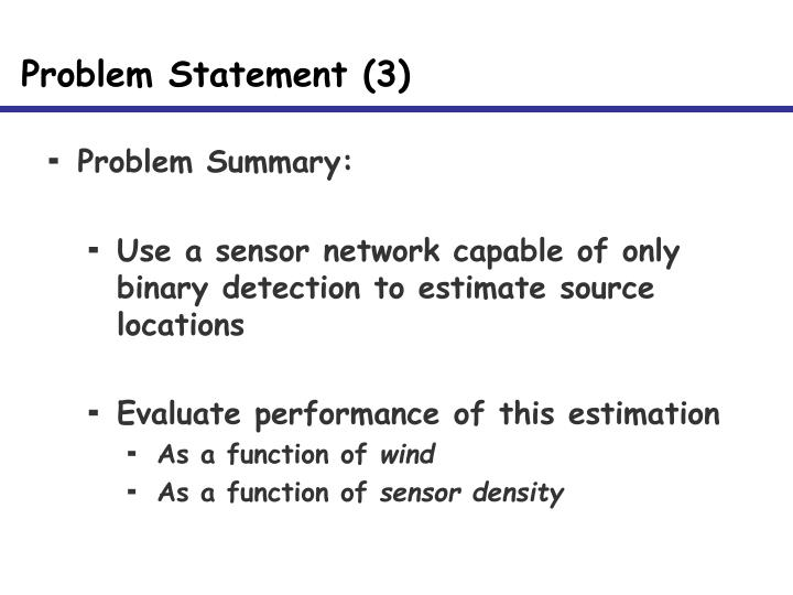 Problem Statement (3)