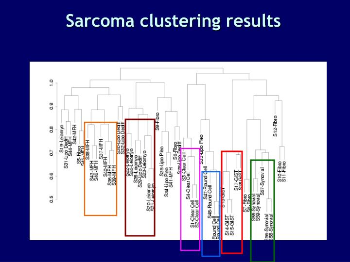 Sarcoma clustering results
