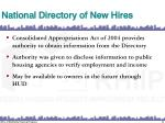national directory of new hires