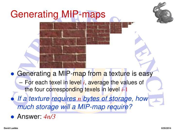 Generating MIP-maps
