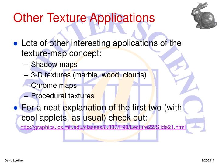 Other Texture Applications