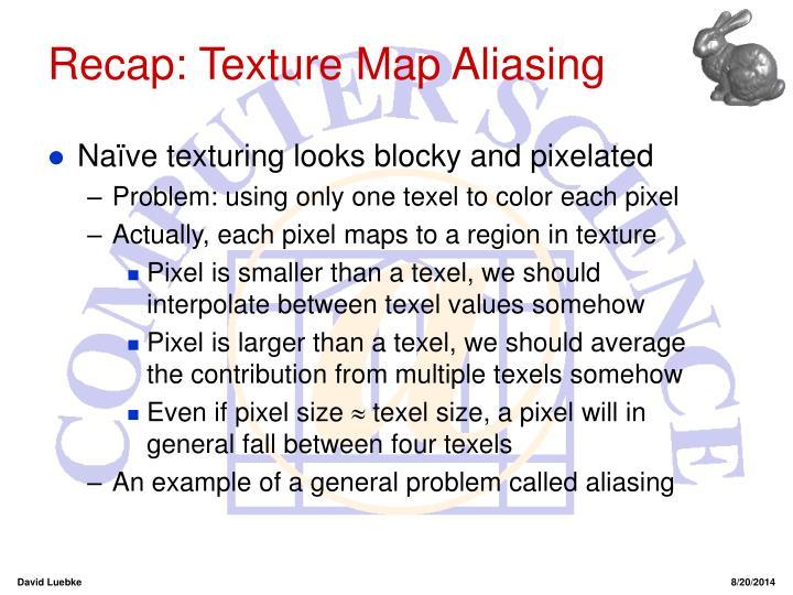 Recap: Texture Map Aliasing