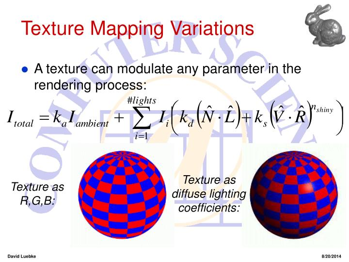Texture Mapping Variations