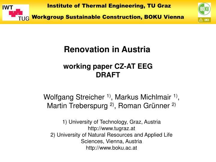 Renovation in Austria