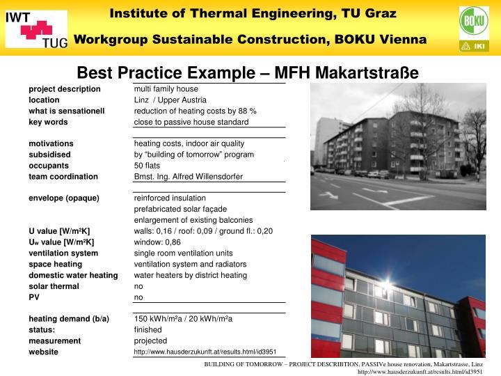 Best Practice Example – MFH Makartstraße