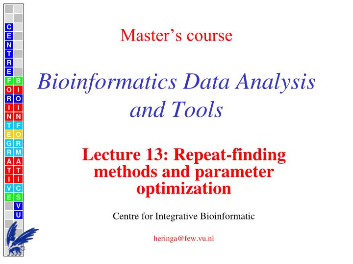 Master s course bioinformatics data analysis and tools