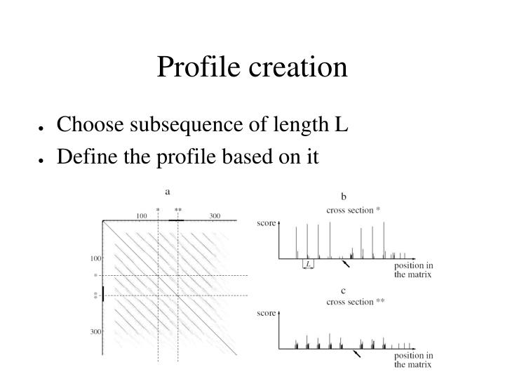 Profile creation