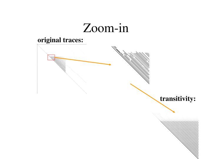original traces: