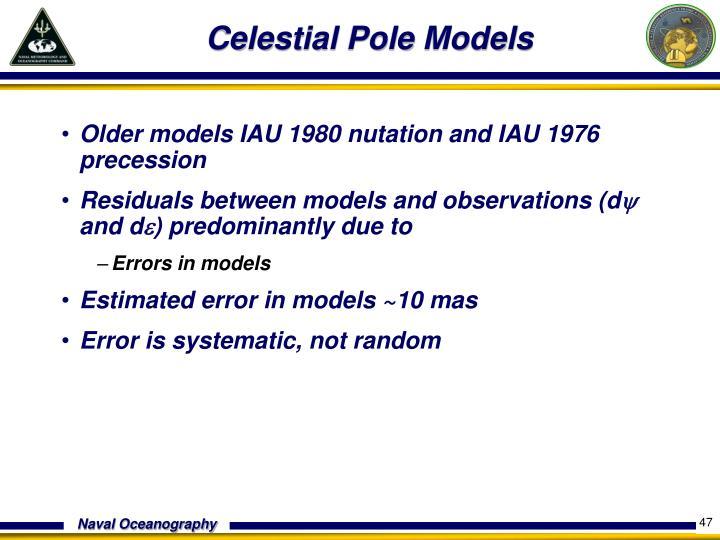 Celestial Pole Models