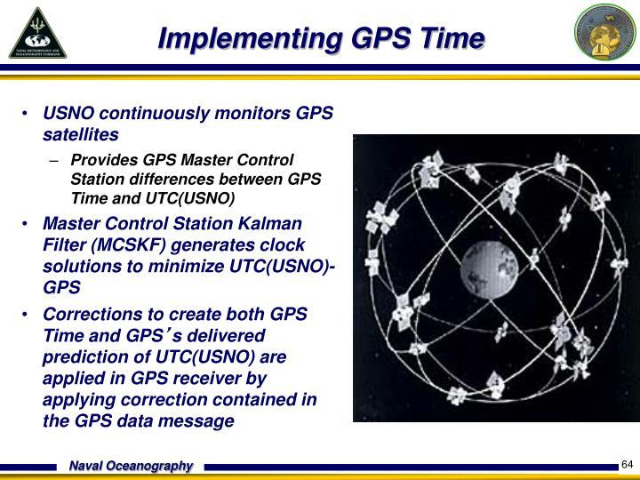 USNO continuously monitors GPS satellites