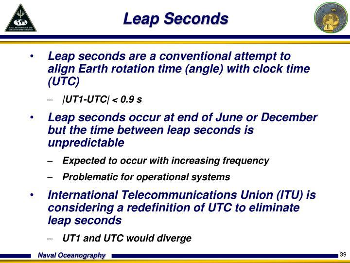Leap Seconds