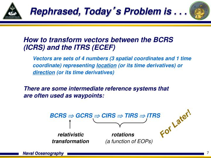 How to transform vectors between the BCRS (ICRS) and the ITRS (ECEF)