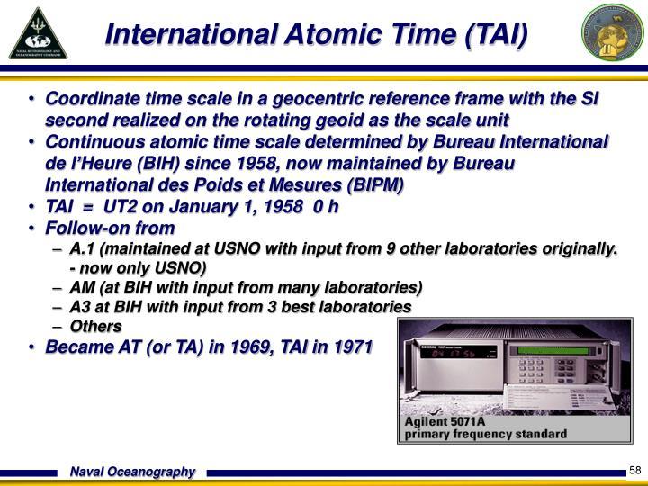 International Atomic Time (TAI)
