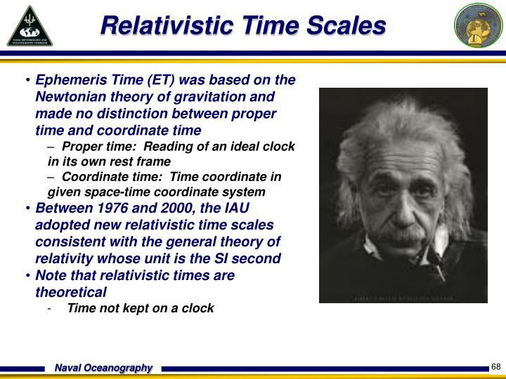 Relativistic Time Scales