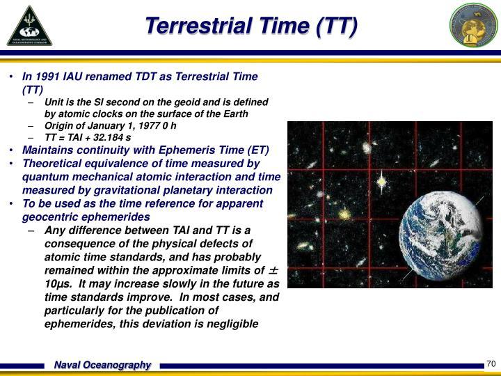 Terrestrial Time (TT)