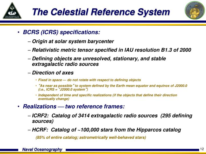 The Celestial Reference System