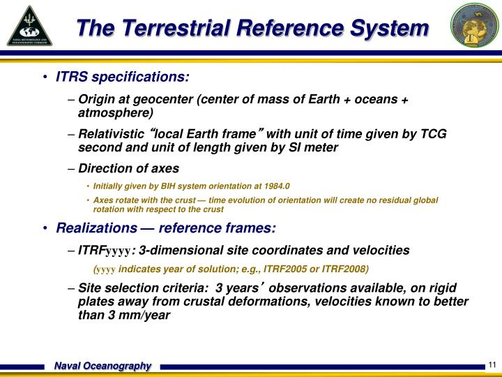 The Terrestrial Reference System