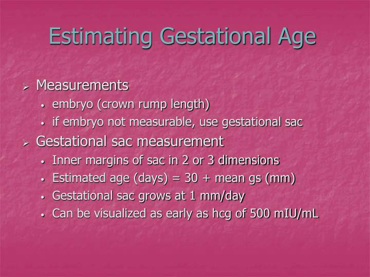 Estimating Gestational Age