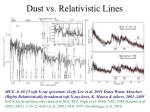 dust vs relativistic lines