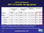 us flu ve network 2011 12 results by age group