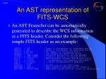 an ast representation of fits wcs