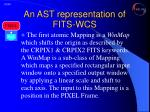 an ast representation of fits wcs5