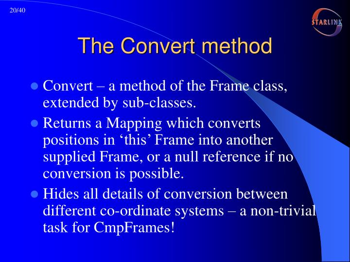 The Convert method