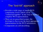 the tool kit approach