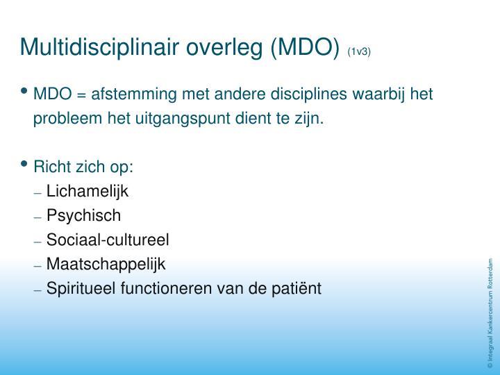 Multidisciplinair overleg (MDO)