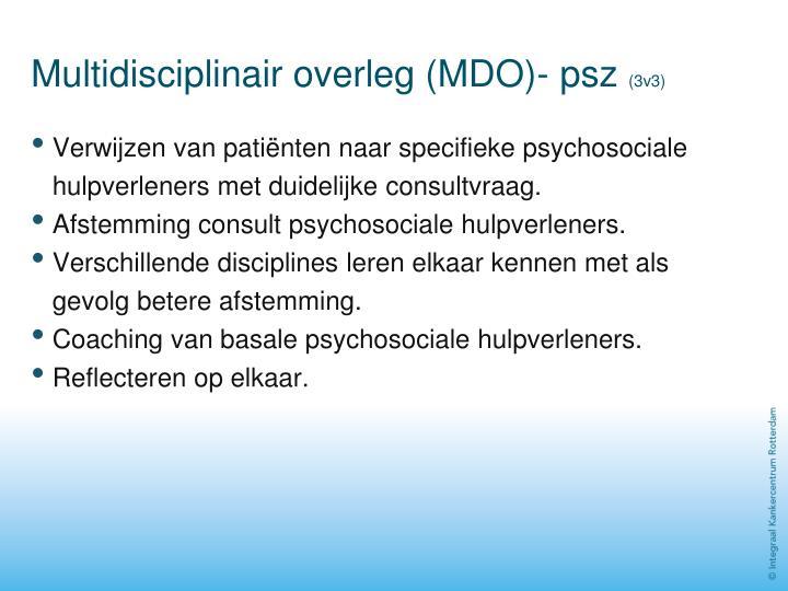 Multidisciplinair overleg (MDO)- psz