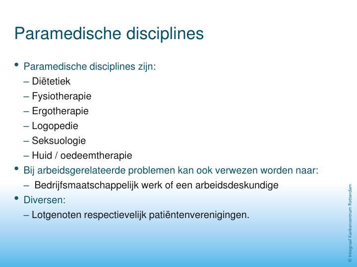 Paramedische disciplines