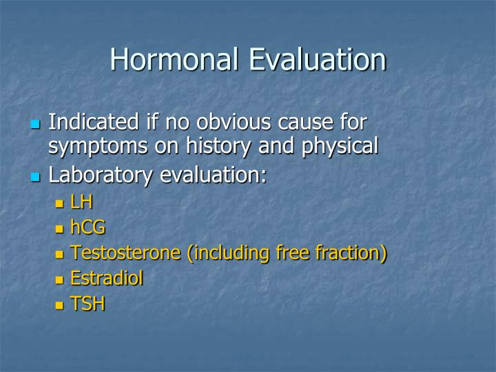 Hormonal Evaluation