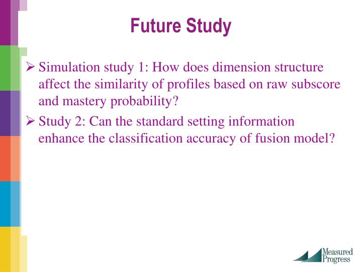 Simulation study 1: How does dimension structure affect the similarity of profiles based on raw subscore and mastery probability?