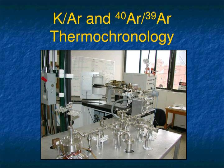 K ar and 40 ar 39 ar thermochronology