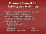 missouri council for activity and nutrition