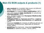 main eu bon outputs products 1