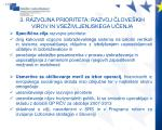 3 razvojna prioriteta razvoj love kih virov in vse ivljenjskega u enja1