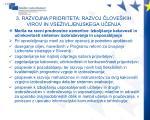 3 razvojna prioriteta razvoj love kih virov in vse ivljenjskega u enja2