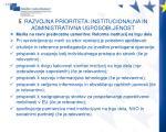 5 razvojna prioriteta institucionalna in administrativna usposobljenost5