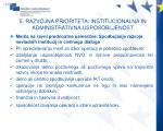 5 razvojna prioriteta institucionalna in administrativna usposobljenost6