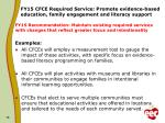 fy1 5 cfce required service promote evidence based education family engagement and literacy support