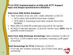 fy14 cfce implementation of asq with rttt support ages and stages questionnaire statistics