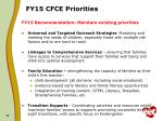 fy15 cfce priorities