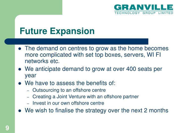 Future Expansion