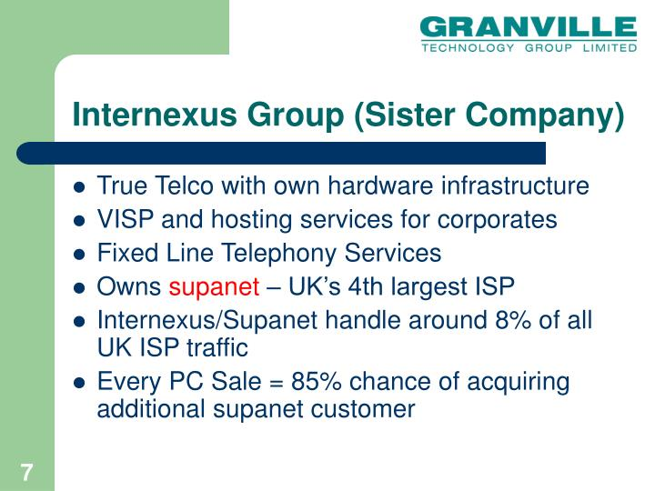 Internexus Group (Sister Company)