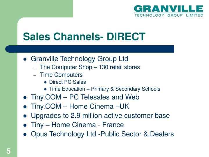 Sales Channels- DIRECT