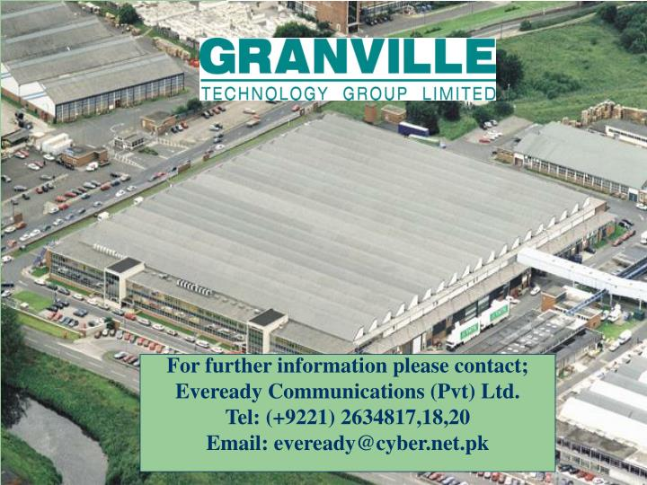 For further information please contact;
