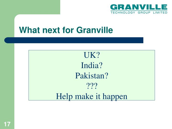 What next for Granville