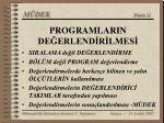 programlarin de erlend r lmes