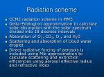 radiation scheme